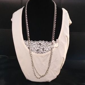 Chico's silver and rhinestone necklace